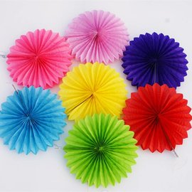 Paper Fan Decoration 1pc