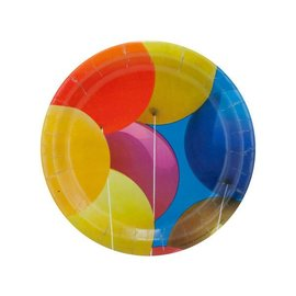 Plates-LN-Birthday Balloons-8pkg-Paper - Discontinued