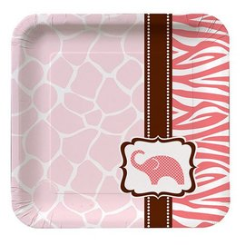 Plates-BEV-Wild Safari Pink-8pkg-Paper - Discontinued