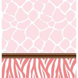 Tablecover-Rectangle-Wild Safari Pink-54''x108''-Plastic - Discontinued