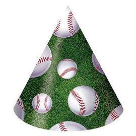 Hats-Cone-Baseball Fanatic-8pkg-Paper