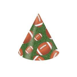 Hats-Cone-Football Fanatic-8pkg-Paper