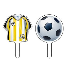 Cupcake Toppers-Soccer Fanatic-12pkg