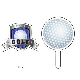 Cupcake Toppers-Golf Fanatic-12pkg