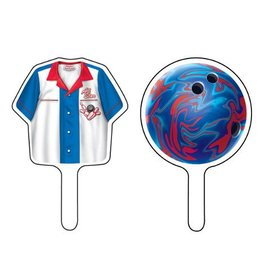 Cupcake Toppers-Bowling Fanatic-12pkg
