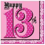 Napkins-LN-Super Stylish 13th Birthday-16pkg-3ply - Discontinued
