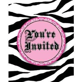 Invitations-Super Stylish Zebra Print-8pkg