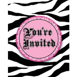 Invitations-Super Stylish Zebra Print