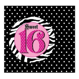 Invitations-Super Stylish Sweet 16-8pk