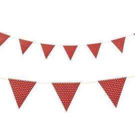 Flag Banner-Cardstock-Red Dots-1pkg-9ft