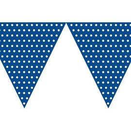 Flag Banner-Cardstock-Dark Blue Dots-1pkg-9ft