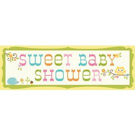 Banner-Happi Tree Baby Shower-60''x20''-Plastic