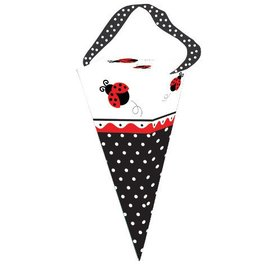 Favor Boxes-Cone-Ladybug Fancy-6pkg