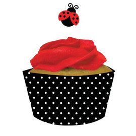 Cupcake Wraps & Toppers-Ladybug Fancy-12pkg