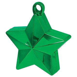Balloon Weight-Star Electroplated-Green-6oz