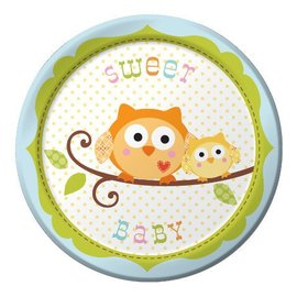 Plates-BEV-Happi Tree Boy-8pkg-Paper - Final Sale