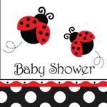 Luncheon Napkins-Ladybug Fancy Baby Shower-16pkg-3ply - Discontinued