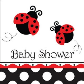 Napkins-LN-Ladybug Fancy Baby Shower-16pkg-3ply - Discontinued