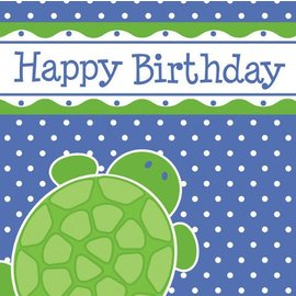 Napkins-LN-Mr. Turtle Birthday-16pkg-3ply - Discontinued