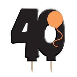 Candle-Holy Bleep 40th Birthday-1pkg