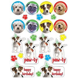 Stickers-Paw-ty Time-4 Sheets