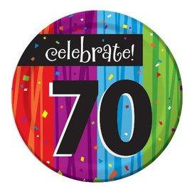 Plates-BEV-Milestone Celebrations 70th-8pkg-Paper - Discontinued