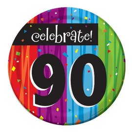 Plates-BEV-Milestone Celebrations 90th-8pkg-Paper - Discontinued