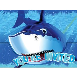 Invitations-Shark Splash-8pkg