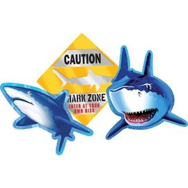 "Cutouts-Shark Splash-3pkg-8""-13"""