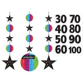Hanging Cutouts-Customizable-Milestone Celebrations-3pkg-36""