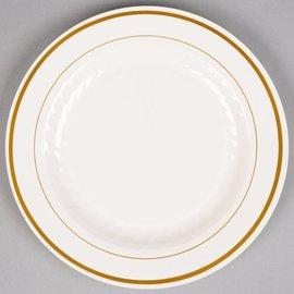 Plates-LN-White and Gold-12pkg-Plastic