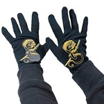 Costume Accessory-Black and Gold Ninja Gloves-1pkg