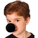Costume Accessory-Black /Red Foam Clown Nose-1 pkg (Red/Black)