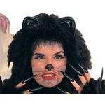 Costume Accessory-Black Animal Wiskers-1pkg