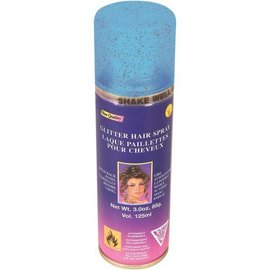 Blue Glitter Hair Spray-1pkg-3oz