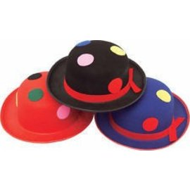 Costume Accessory-Assorted Derby Clown Hat-1pkg