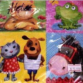 Napkin-LN-Animal Friends-20pkg-3ply (Discontinued/Final Sale)