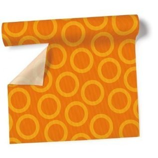 Airlaid Table Runner- Orange Circles (360cm x 40cm)
