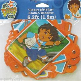 Happy Birthday Banner - Go Diego Go - 5ft (Discontinued)