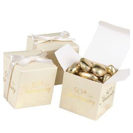 Favor Boxes- 50th Anniversary- 25pk