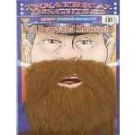 Costume Accessory-Brown Buccaneer Beard-1pkg