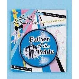 "Bridal Button-Father of Bride-1pkg-5"""