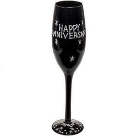 Champagne Glass-Happy Anniversary-1pkg-9.5""