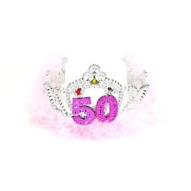 Flashing Tiara-Happy 50th Birthday-1pkg