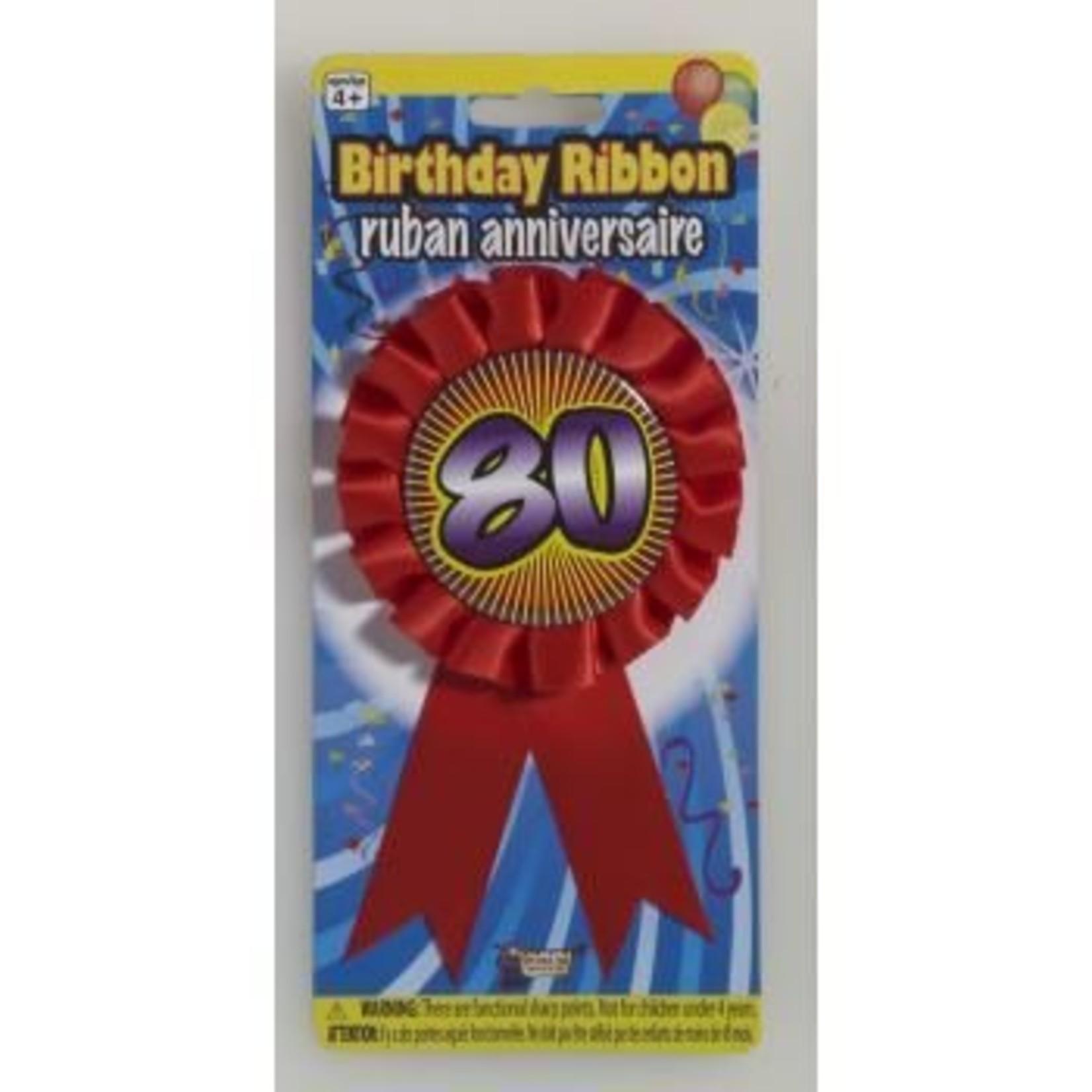 Award Ribbon-80th-1pkg-5.5''