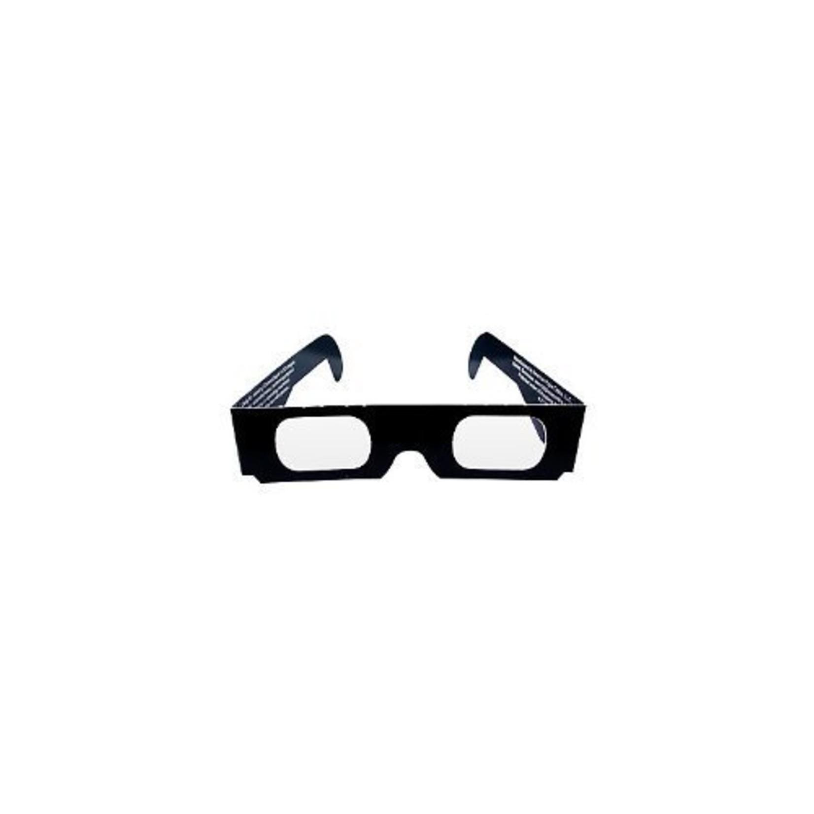 "3-D Glasses- Black Paper- 6"" Wide"