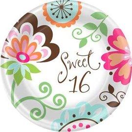 Plates-BEV-Sweet Sixteen-8pk-Paper
