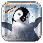 Plates-BEV-Happy Feet-8pk-Paper (Discontinued)
