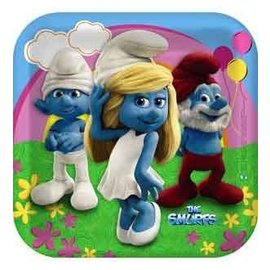 Plates-DN-Smurfs-8pk-Paper (Discontinued)