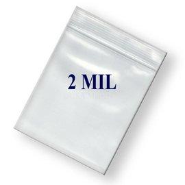 Ziplock Bag-Clear-Plastic-2''x3''-2mil-100pk